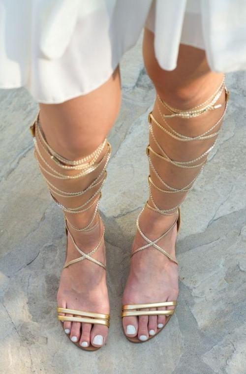 Find me these golden gladiator sandals. - SeenIt