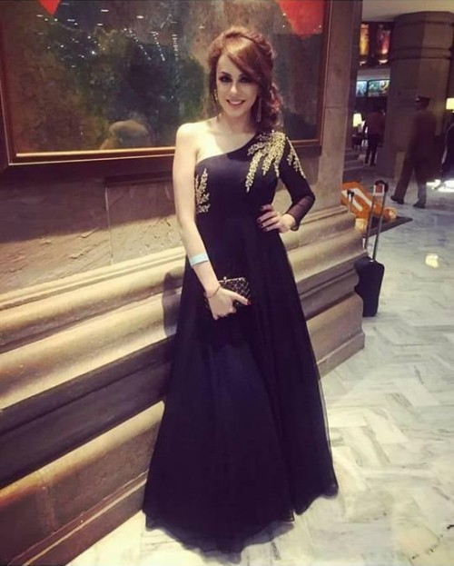 Looking for a similar black one-shoulder gown - SeenIt