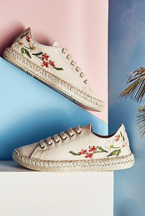 I'm looking for similar off-white embroidered espadrilles - SeenIt