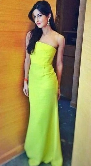 22c068f1fb Looking for a similar fit and flare neon gown as the one Katrina Kaif is  wearing