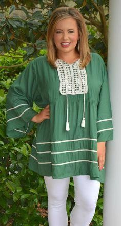 I'm looking for a similar green tunic top - SeenIt