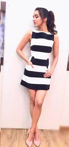 Looking for a similar striped dress that Shraddha Kapoor is wearing. - SeenIt