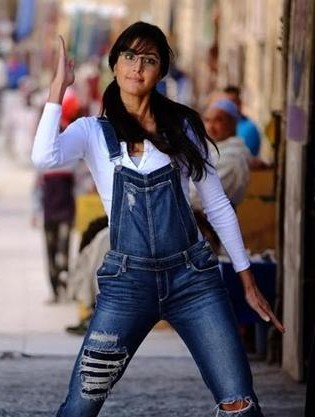 62a03bf2255 Looking for a similar ripped denim overall like Katrina Kaif is wearing in  Jagga Jasoos -