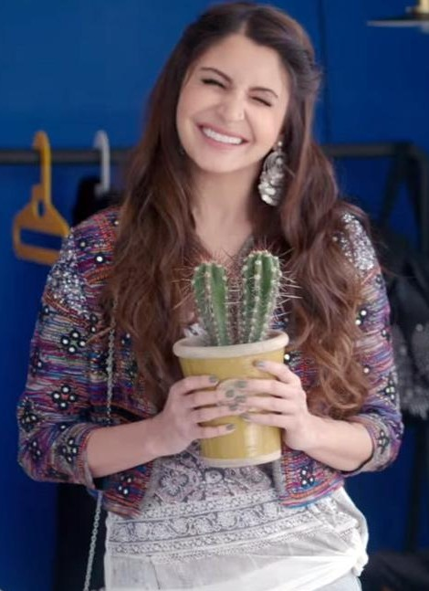 Want similar multicolor embroidered jacket that Anushka Sharma is wearing. - SeenIt