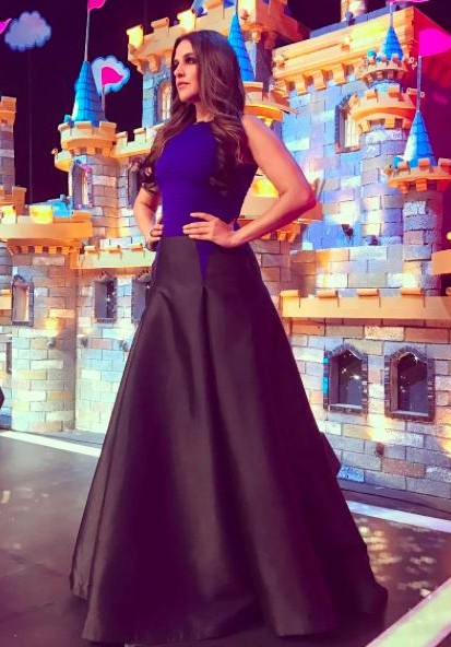 Looking for a similar black and blue gown that Neha Dhupia is wearing. - SeenIt