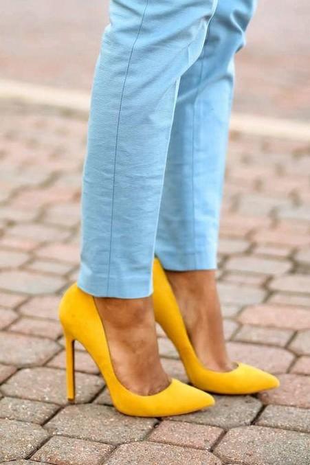 Looking for similar suede yellow heels, help me please!! - SeenIt