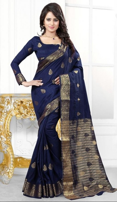Want this blue printed saree - SeenIt