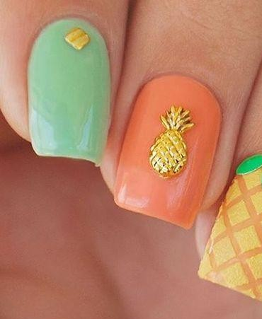 Looking for a similar pineapple nail embellishment - SeenIt