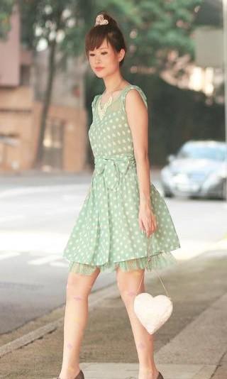 I'm looking for a similar pastel green poka dot dress,help me? - SeenIt