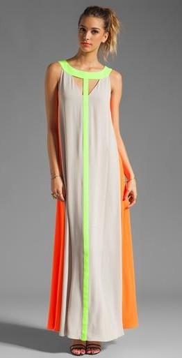 Can you find me a similar colourblock maxi dress? - SeenIt