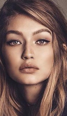 Looking for a similar nude makeup, contours, lip shade as Gigi Hadid is wearing - SeenIt