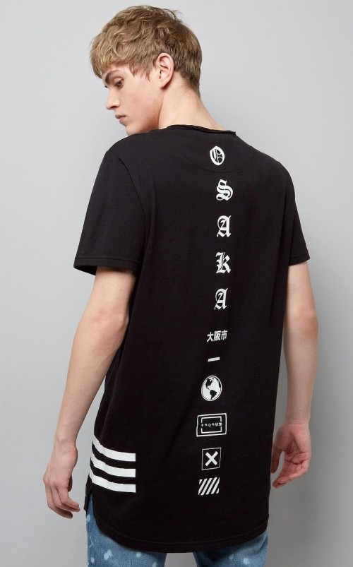 Looking for monochrome printed long tshirt like this. Any leads? - SeenIt