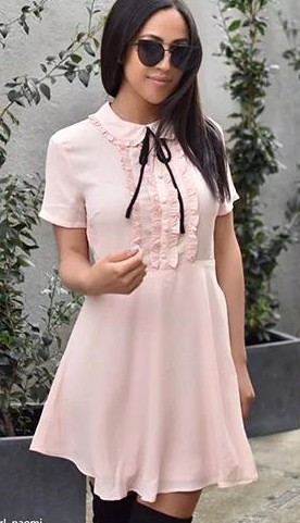 Looking for this Ruffled Collar Mini Dress - SeenIt