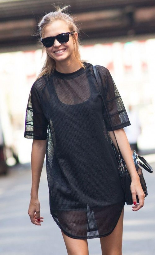 I am looking for this similar sheer black dress as seen on her,help me? - SeenIt