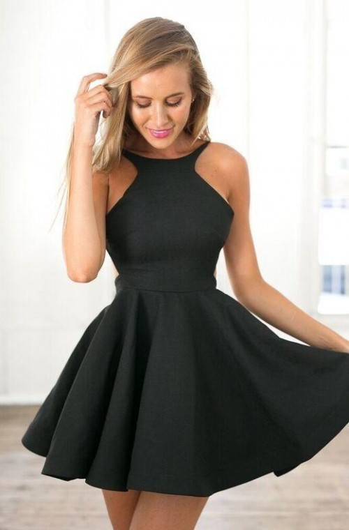 Looking for a black skater dress,as seen on her? - SeenIt