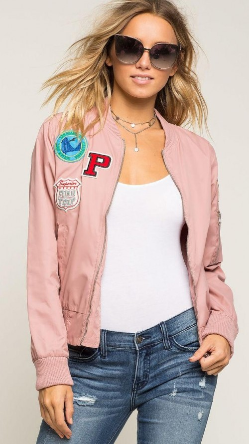 Looking for similar patch pastel jacket as seen on her. - SeenIt