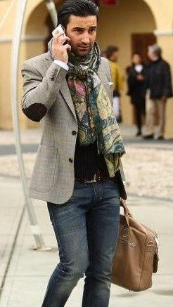 I am looking for this elbow patch grey blazer as seen on him - SeenIt