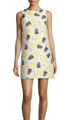 Where can I find a similar white pineapple print shift dress? - SeenIt