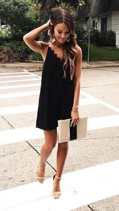 Looking for this black cami mini dress online - SeenIt