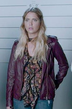 Looking for a similar wine colored jacket like Hanna Marin wore - SeenIt