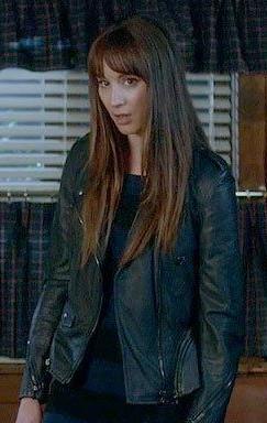 Spencer's black leather jacket please - SeenIt