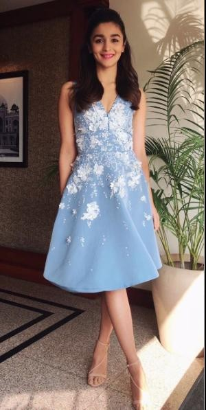 Want this blue embroidered dress which Alia Bhatt is wearing - SeenIt
