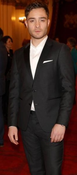 Looking for a similar black suit as seen on Ed Westwick - SeenIt