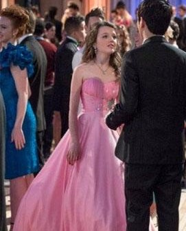 Want a similar pink strapless gown like Doriit is wearing. - SeenIt