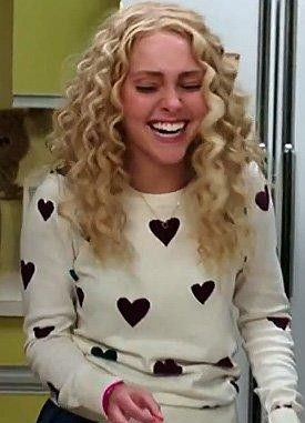 Looking for a similar heart print sweater online that Carrie is wearing - SeenIt