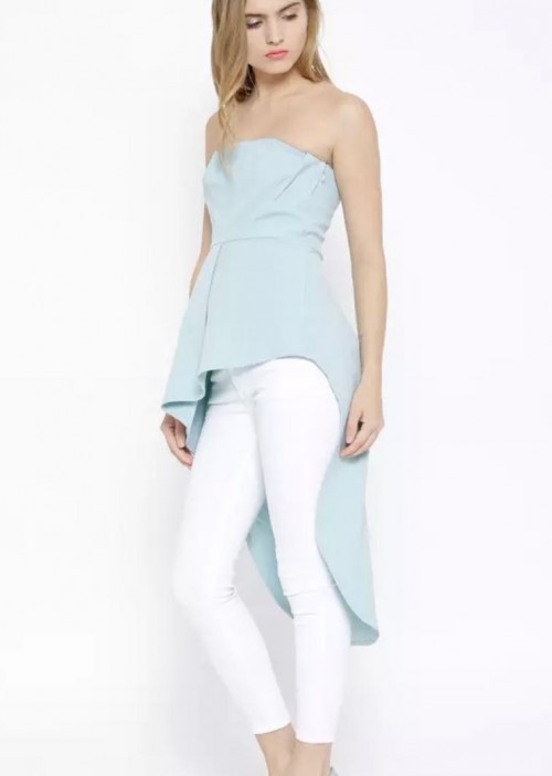 Want this blue asymmetrical top - SeenIt