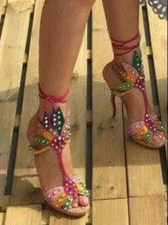 Please find me similar multicolour heels like these. - SeenIt