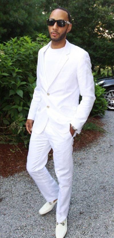 i am looking for this white blazer,pant and shoes as seen on him. - SeenIt