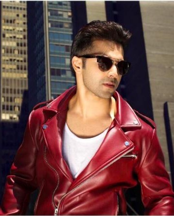 Looking for a similar red leather jacket and black sunglasses that Varun Dhawan is wearing. - SeenIt