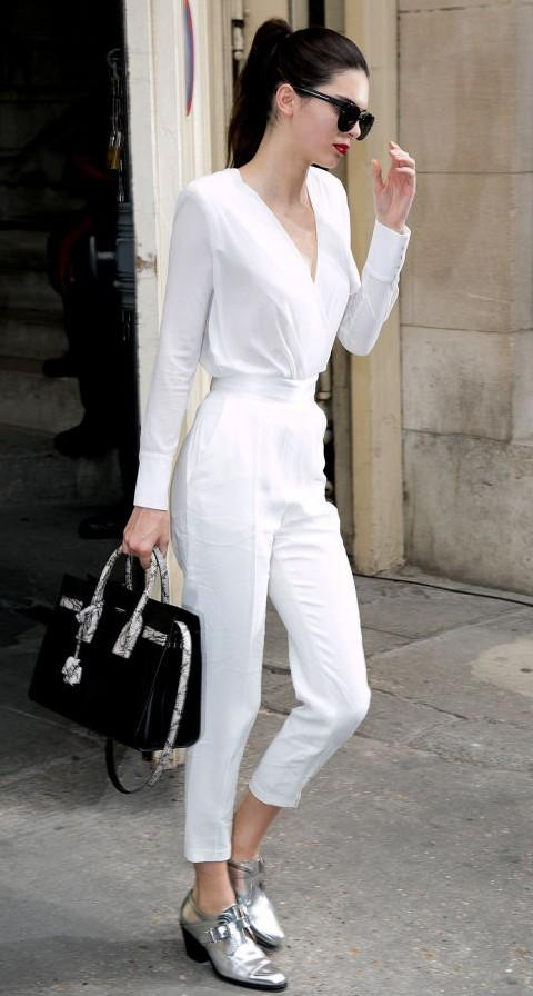 46893a4462c Totally digging this! the all white outfit with white pants and a white  shirt -
