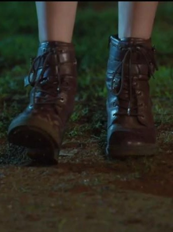 Looking for these brown ankle length lace up boots. - SeenIt