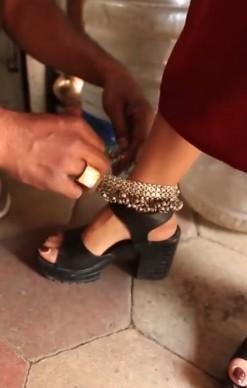 Find me these black block heels. - SeenIt