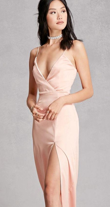 Looking for a similar pink wrap cami dress - SeenIt