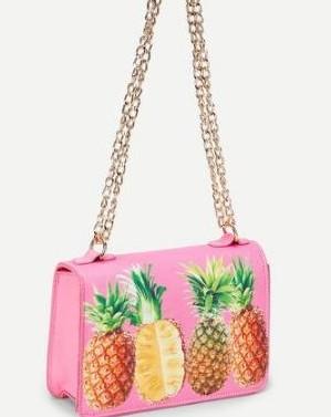 Want this pink pineapple print bag - SeenIt