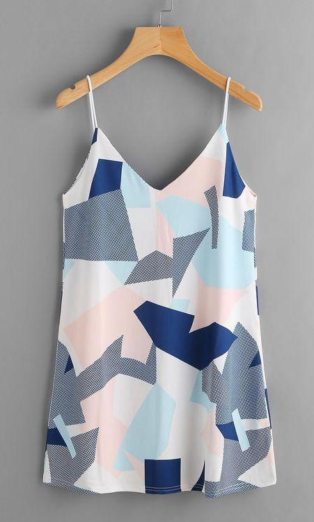 Looking for this colour block cami dress online. - SeenIt