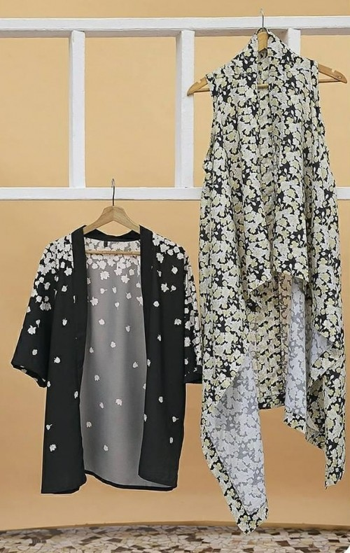 Need both the shrugs..black printed and olive green printed asymmetric one!! - SeenIt