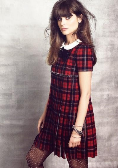 Looking for a red plaid dress with collar - SeenIt