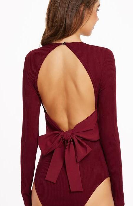 Want this Wine colour bodysuit - SeenIt