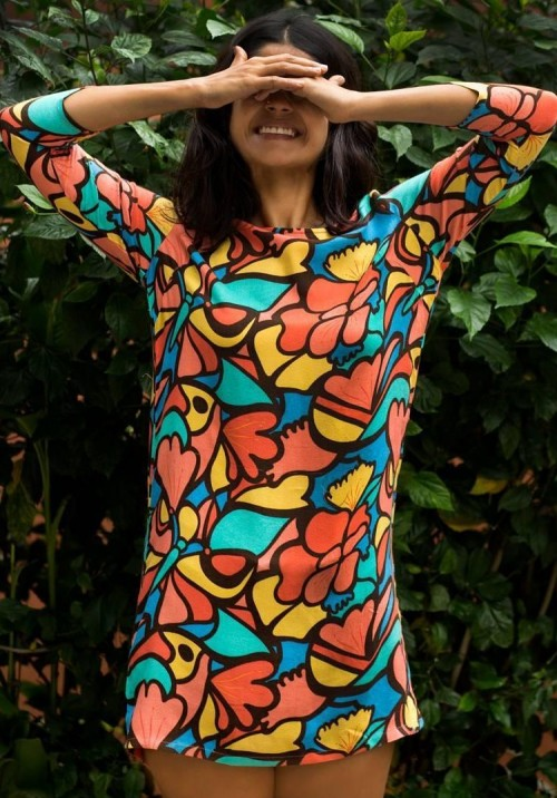 Can you help me find this colourful quirky floral print shift dress online? - SeenIt