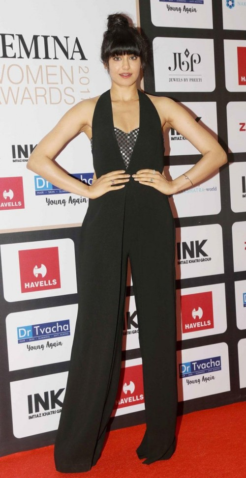 Yay or Nay? Adah Sharma wearing a black jumpsuit at the Femina Women Awards  2017 - SeenIt