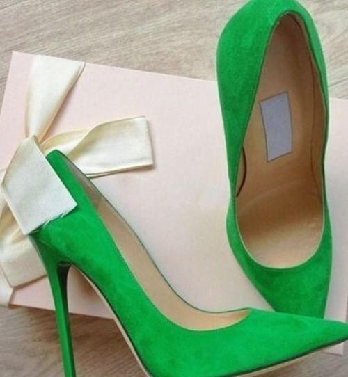 I am looking for similar green pumps help me? - SeenIt
