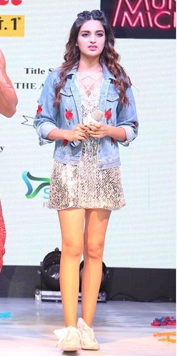 1755363d5f4e Looking for a similar jacket that Nidhi is wearing while promoting her new  movie Munna Michael