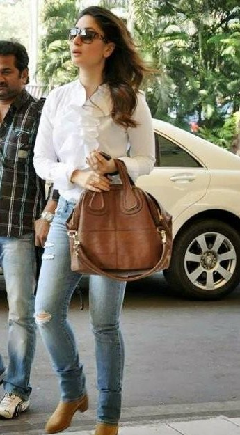 plz help me with the same jeans which Kareena Kapoor is wearing but black in colour - SeenIt