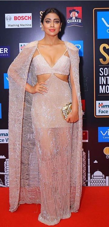 Yay or Nay? Shriya Saran spotted in a lavender avant garde outfit at the SIIMA night in Abu Dhabi - SeenIt