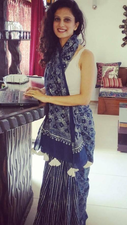 Need a similar indigo blue block printed saree - SeenIt