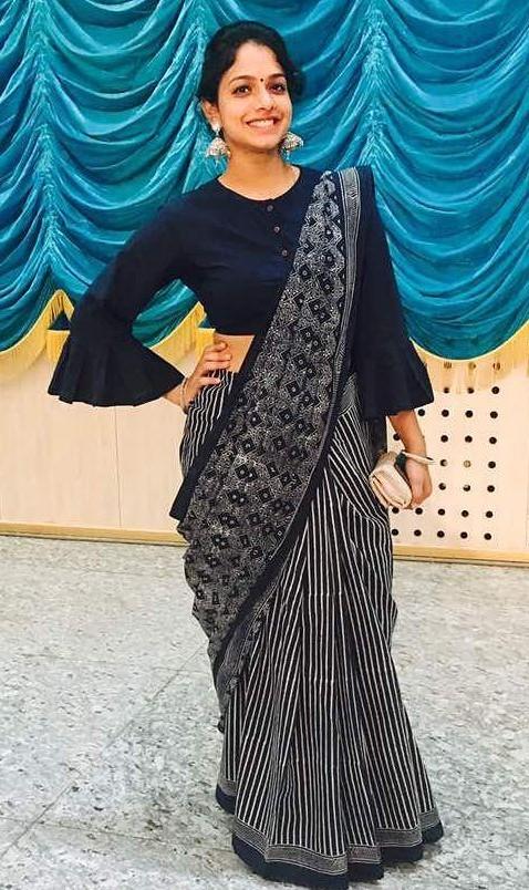 Help me find this black block printed saree.. - SeenIt